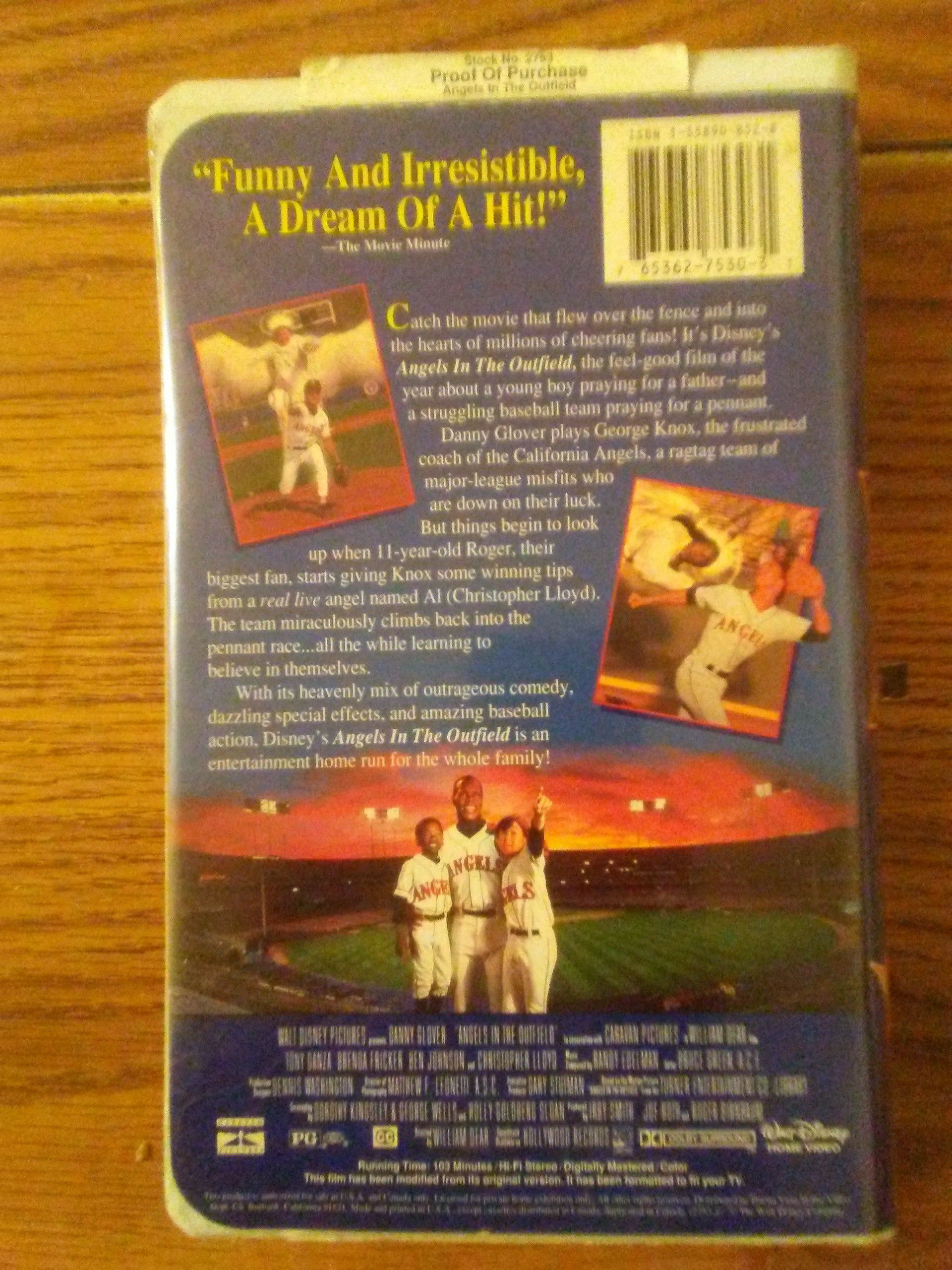 Walt Disney Angels In The Outfield VHS