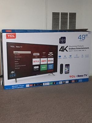 Open Box 49inch 4K TCL Roku Smart TV Latest Model for Sale in Ashburn, VA