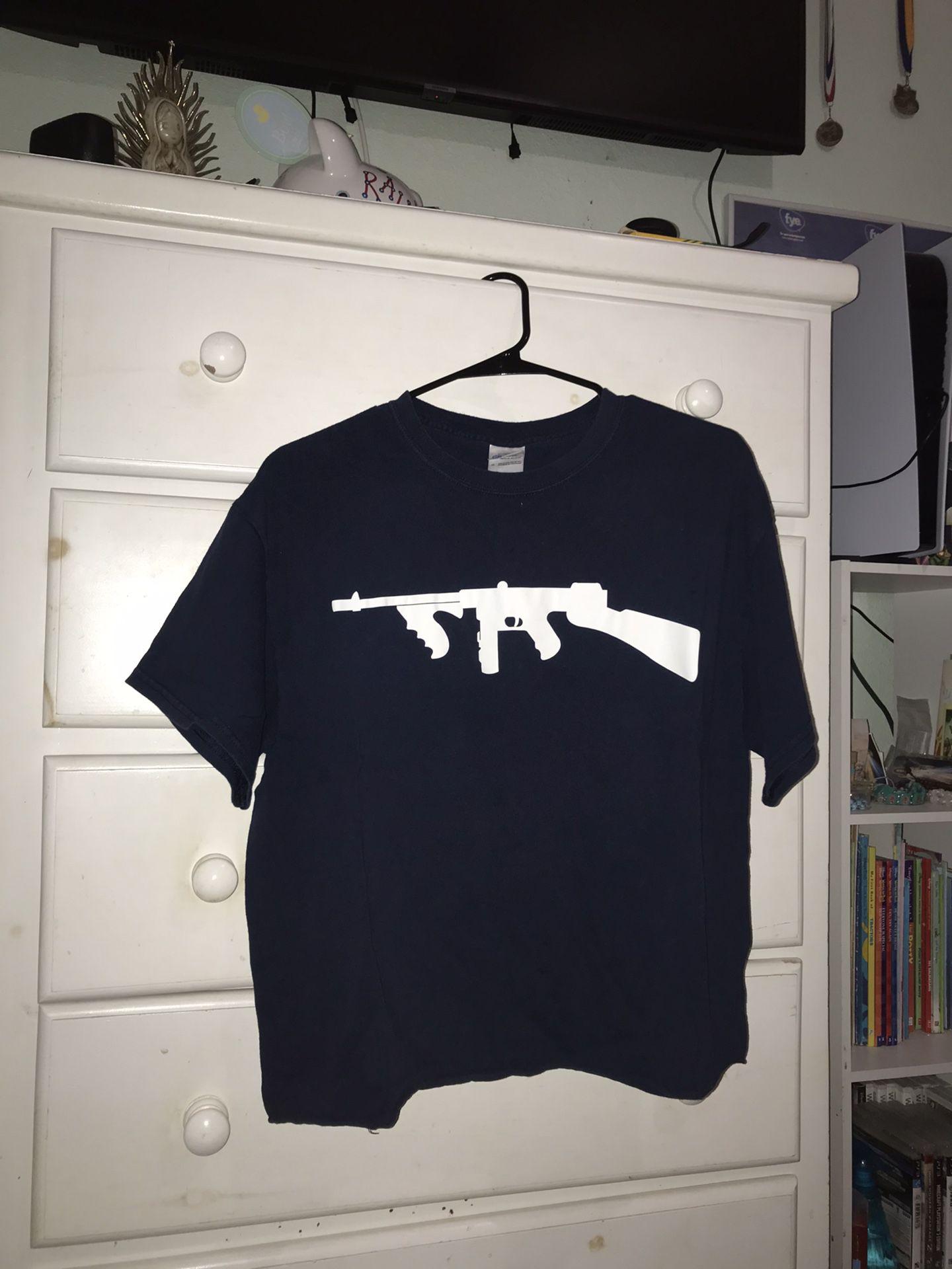Dark Blue Drum Gun T shirt