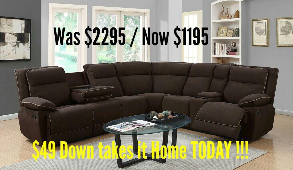 ✨Brand New Plush Sectional Sofa/ Nuevo Sofá de Esquína✨