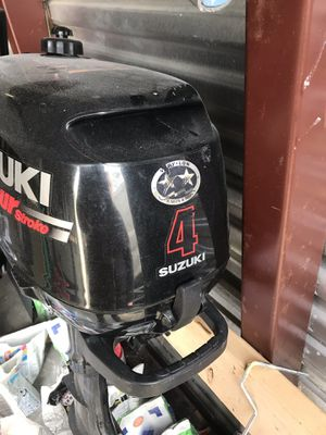 Suzuki 4hp FOUR STROKE outboard motor for Sale in Gaithersburg, MD