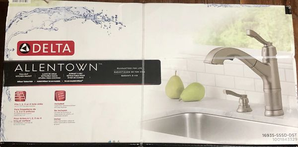 Delta Allentown Pull Out Kitchen Faucet Stainless Finish For Sale