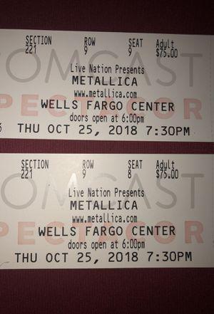 Metallica Concert Tickets for Sale in Philadelphia, PA