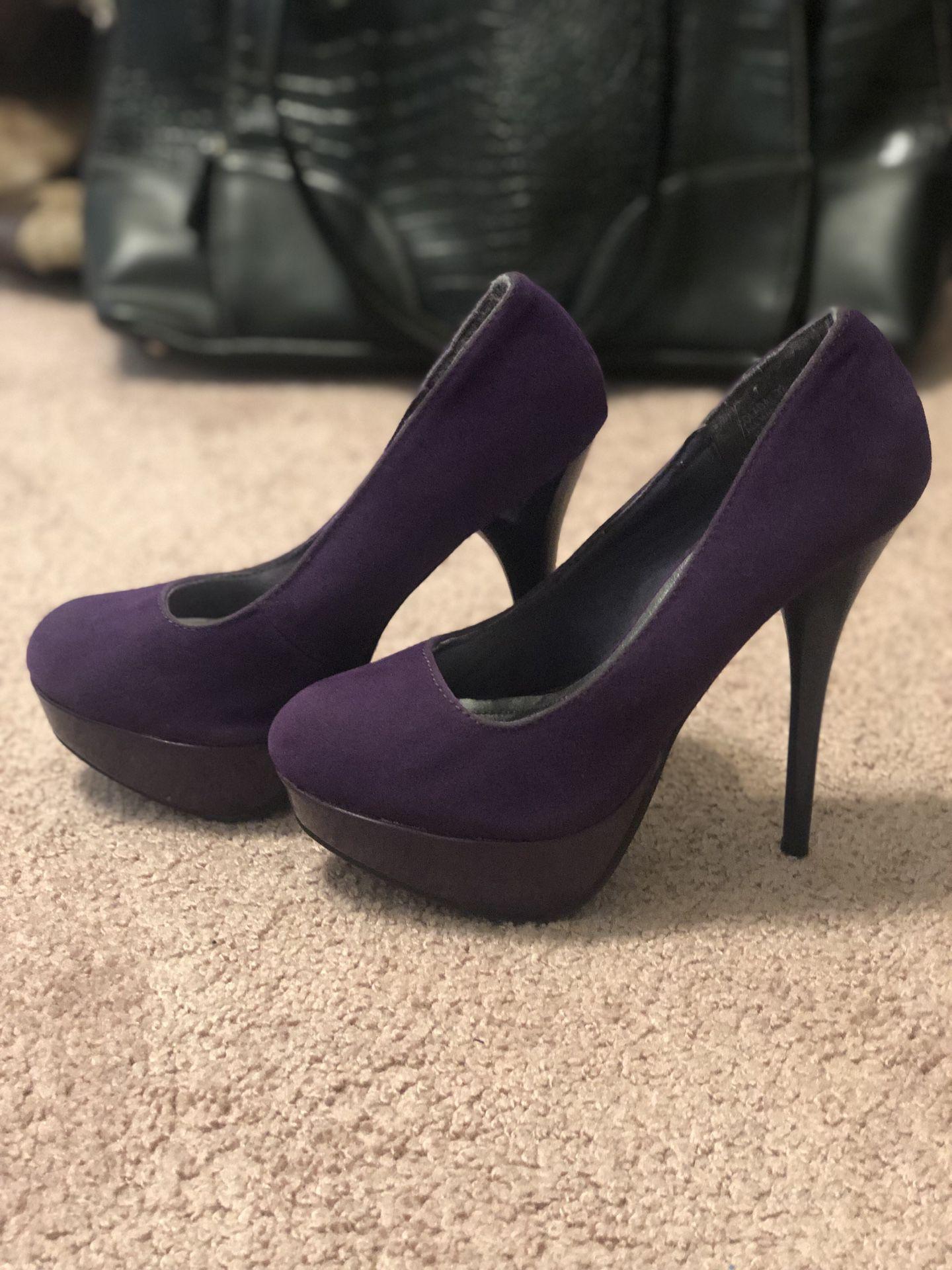 Purple heels size 5.5
