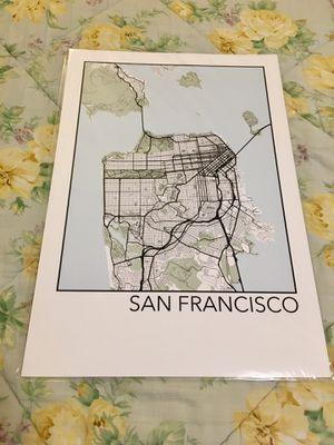 Map prints-wall art-Posters-San Francisco, Raleigh, Nashville, Lex KY for Sale in San Francisco, CA