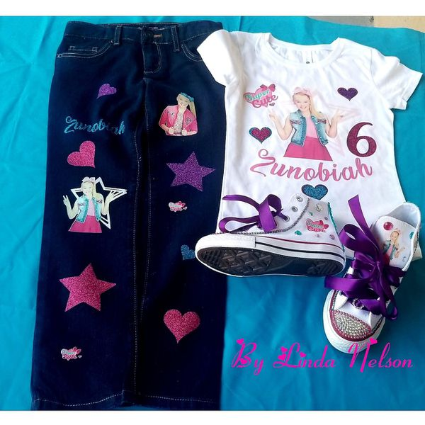 JoJo Siwa Birthday Outfit With Converse Shoes