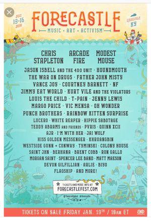 Forecastle festival for Sale in Nashville, TN