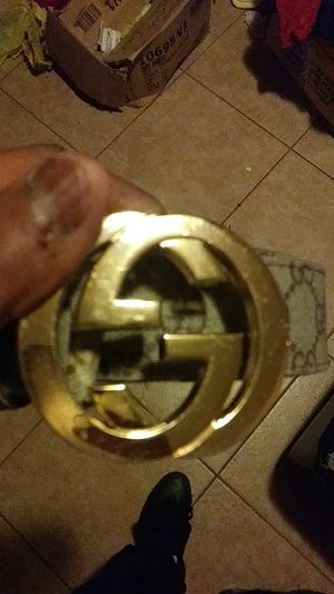 Gold buckle gucci belt must come to me for Sale in Riverdale Park, MD