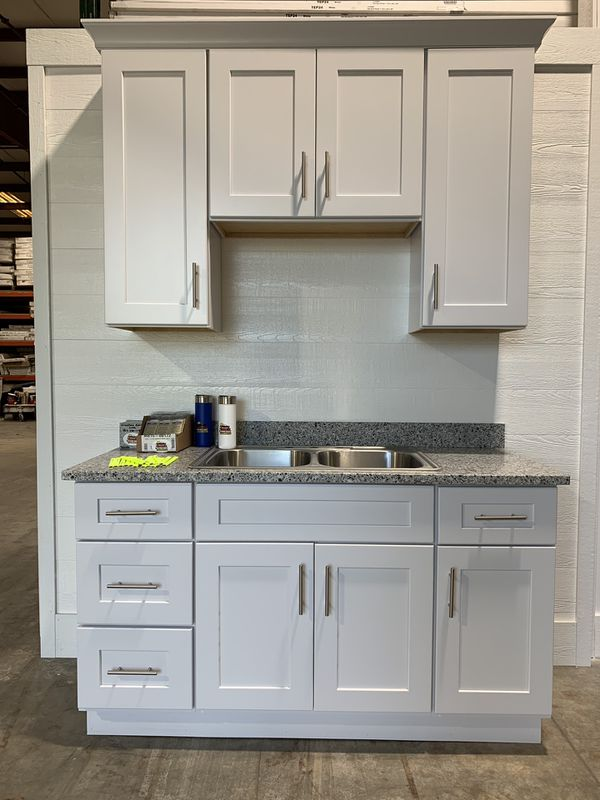 White Shaker Cabinets All Assembled Same Day Pickup for ...