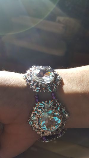 Silver Jeweled with purple Bracelet for Sale in Portland, OR
