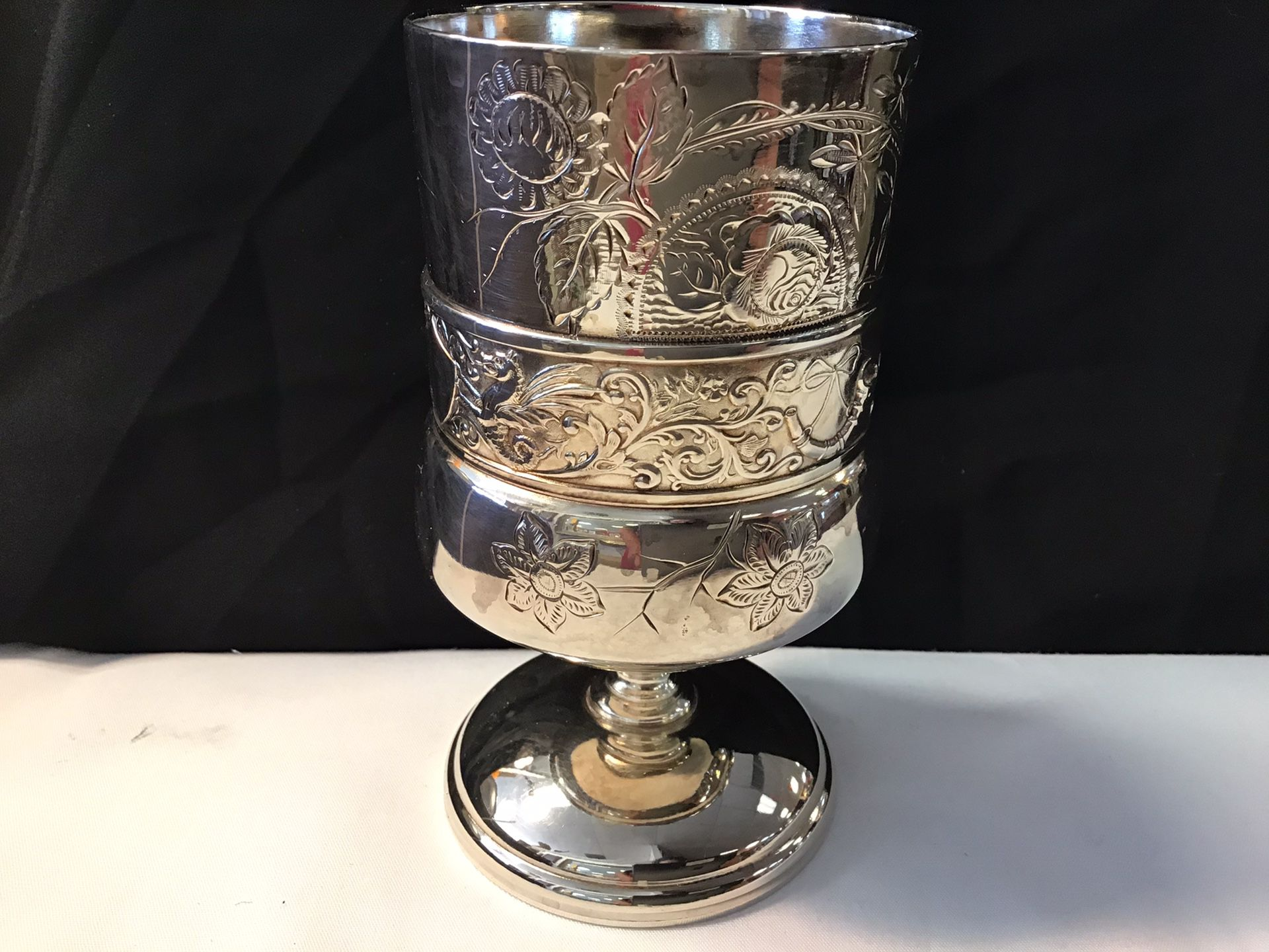The acme silverplate goblet