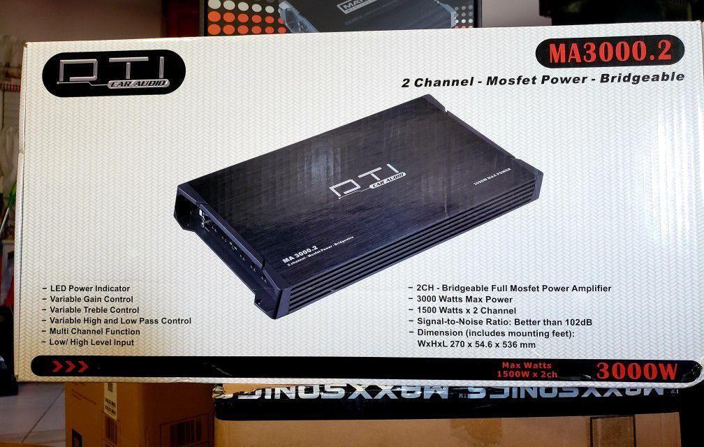 3000w 2ch dti hi powered amp brand new beast of an amp