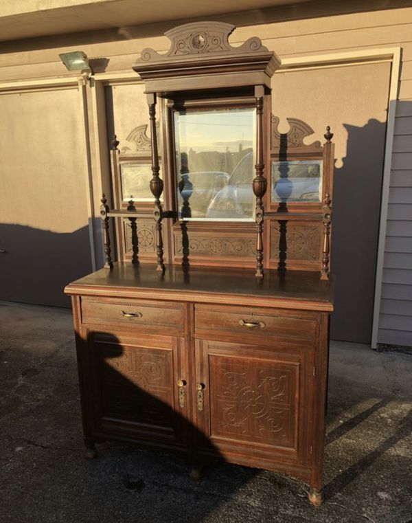Antique Kitchen Buffet/Cabinet for Sale in Des Moines, WA ...