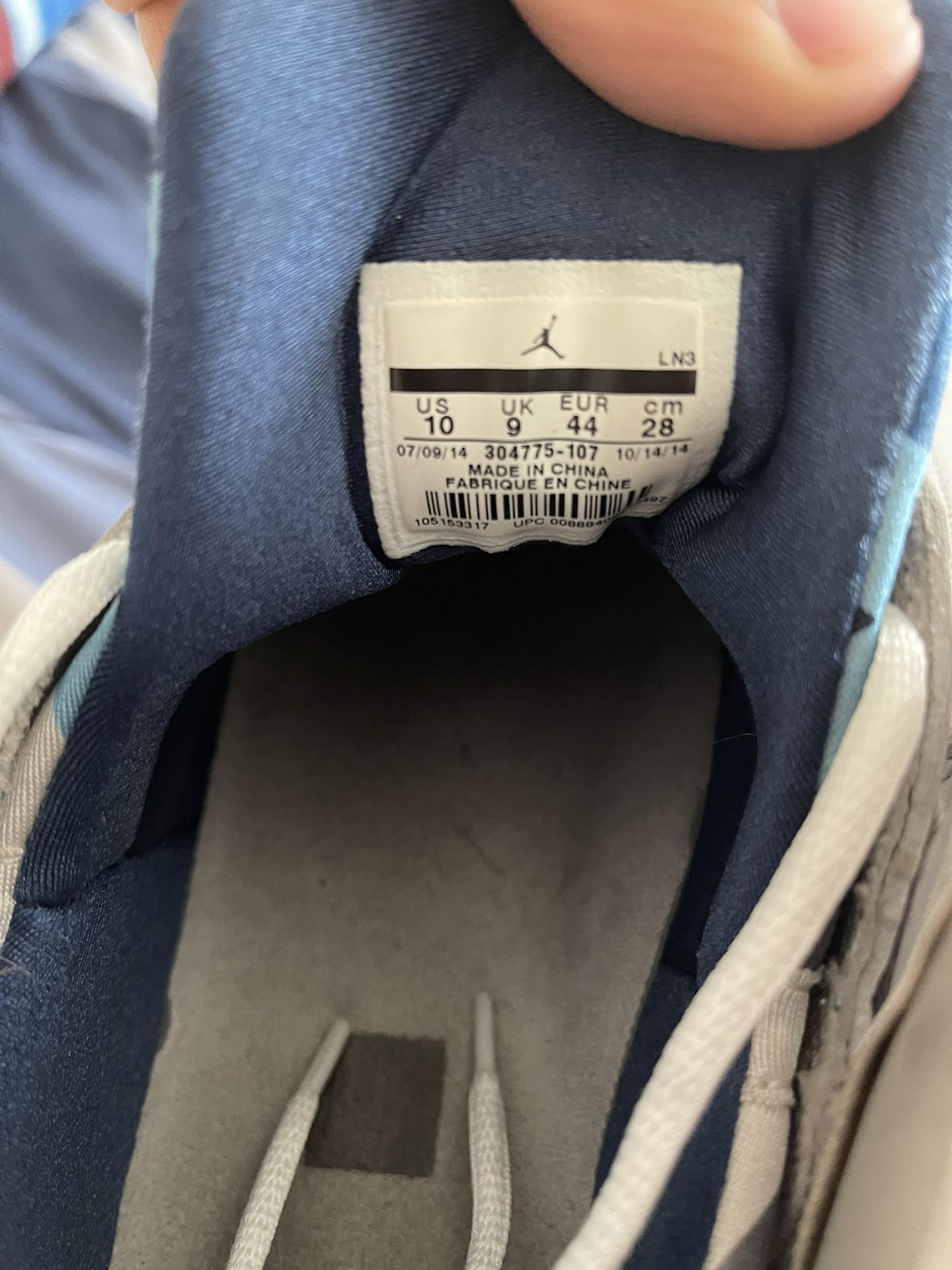 Air Jordan French Blue 7 Size 10