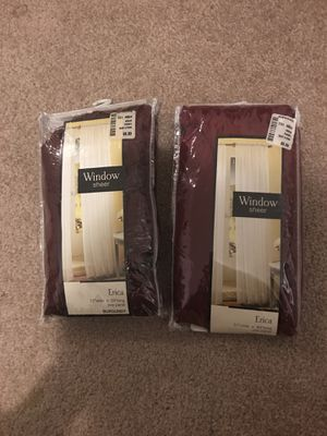 Window sheer - burgundy for Sale in Columbus, OH