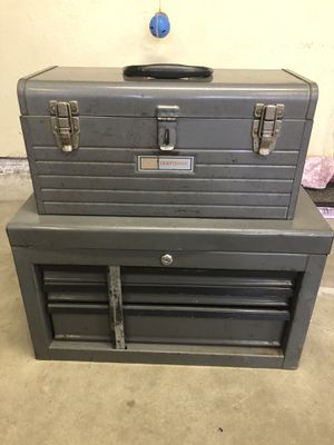 Photo Craftsman toolboxes with tools see all pictures please. All of it for $70