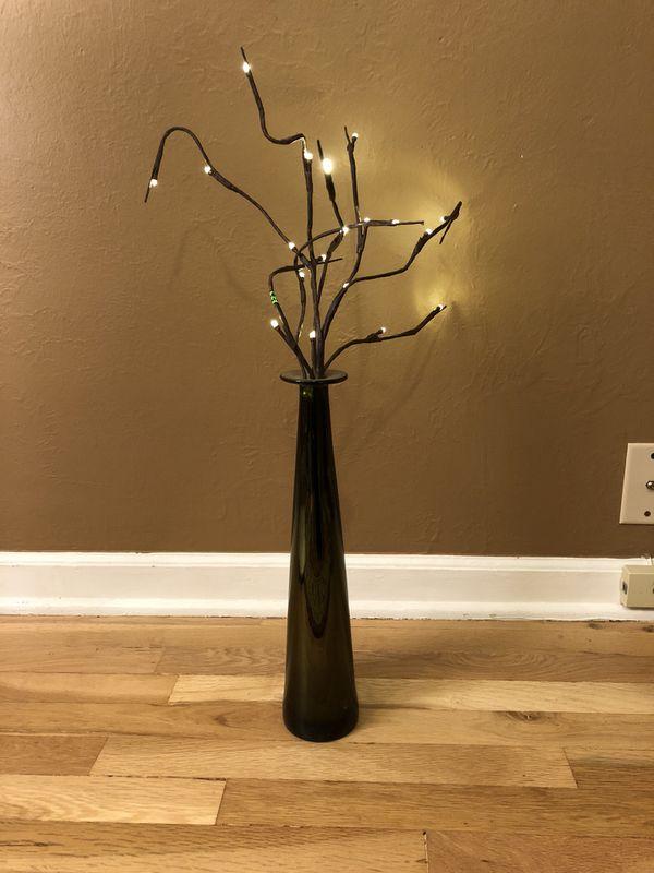 Tall Vase Lighting Garden Intended Green Tall Skinny Vase With Lights home u0026 Garden In Wheat Ridge Co Offerup Ridge