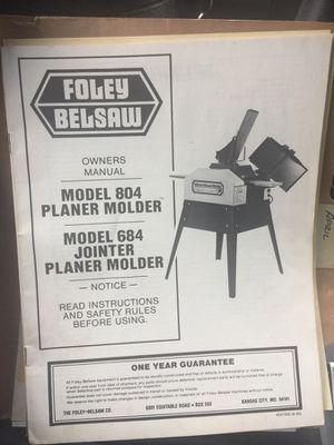 Foley Belsaw Planer Molder Model 804 Make Offer For Sale In Bothell WA OfferUp