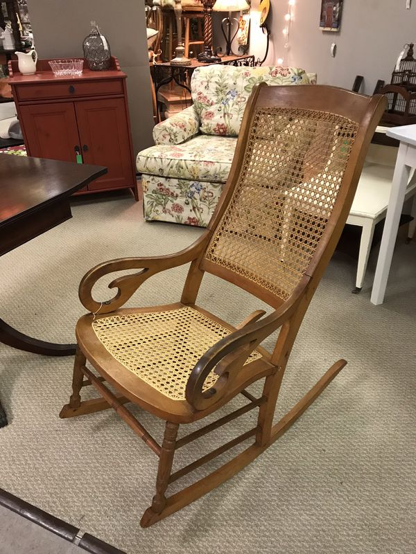 - Antique Cane Rocking Chair —$40 Firm For Sale In Martinez, GA - OfferUp