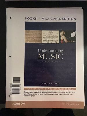 College Class music appreciation Required Book Understanding music for Sale in Woodbridge, VA