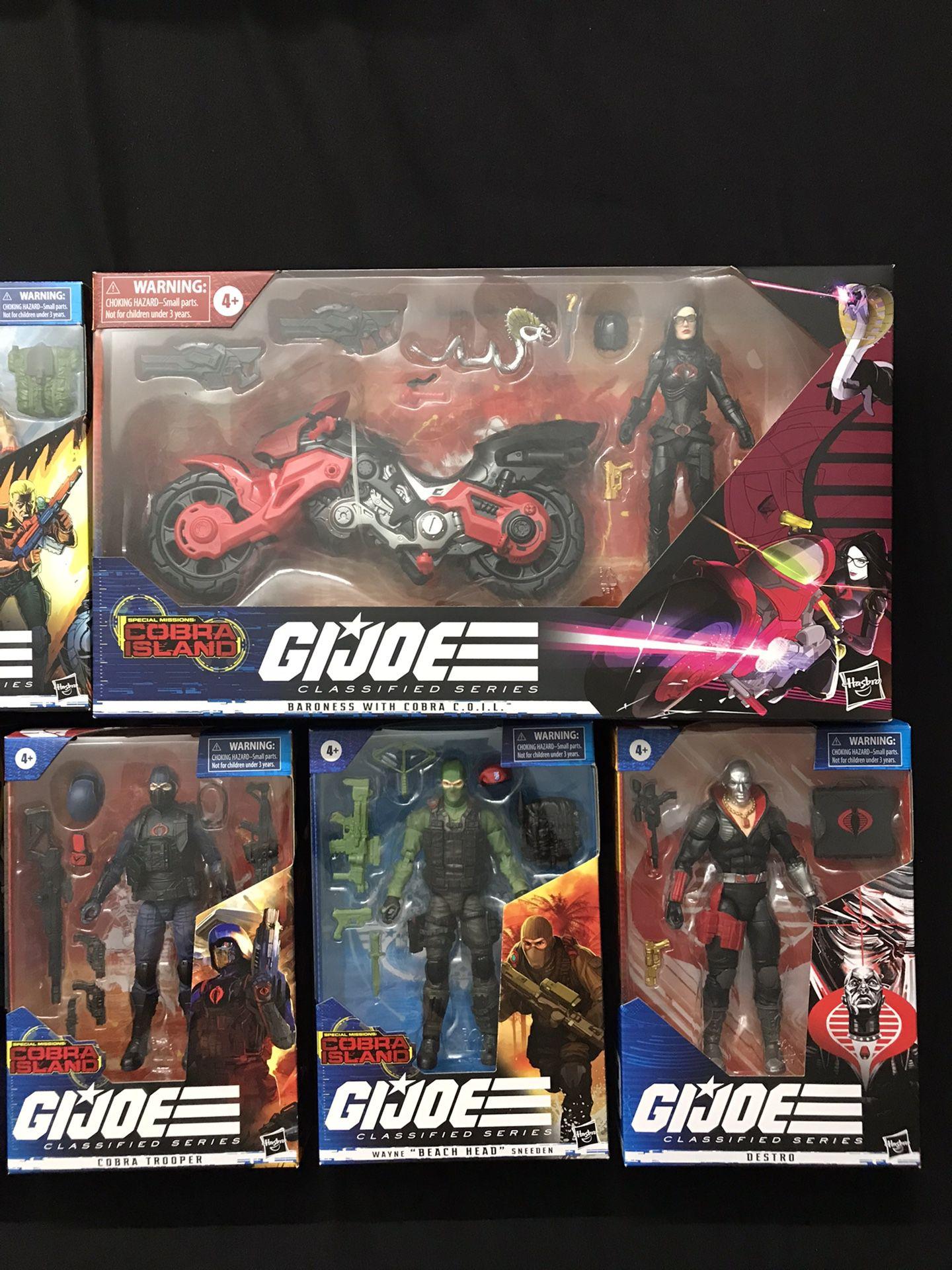 GI Joe Classified Baroness Storm Shadow Beach Head Cobra Viper + More