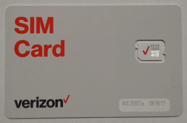 verizon wireless sim card activation number