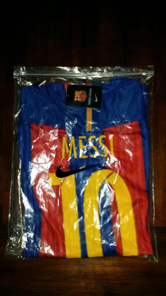 Messi 2017 Barcelona jersey