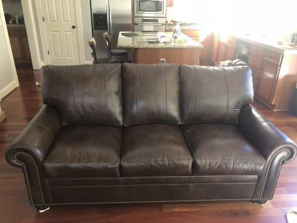 Custom Leather Sofa and Chair/Ottoman for Sale in Portland, OR - OfferUp