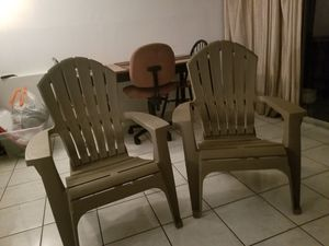 Wide Plastic Chairs (Outdoor) for Sale in Hollywood, FL
