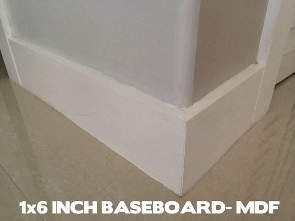 Primed in white, MDF ,1x6 Baseboards For Sale for Sale in Miami, FL -  OfferUp