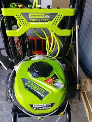 Greenworks pro 2200 psi/2.3GPM premium eletric pressure washer for Sale in Kissimmee, FL