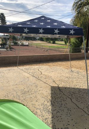 118 x 118 American flag kit canopy tent in perfect condition for Sale in Menifee, CA
