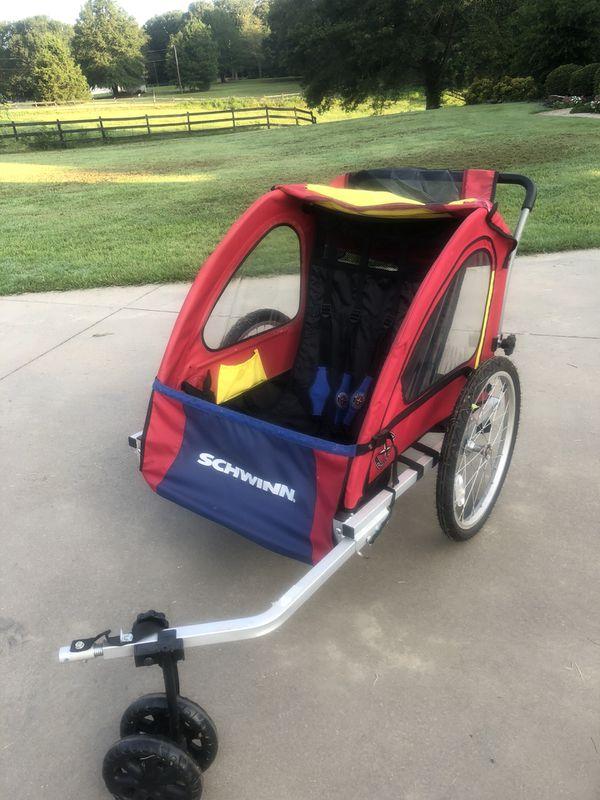 Schwinn 2 Seater Bike Trailer Stroller For Sale In