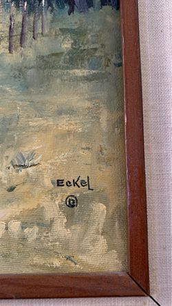 """Original Eckel oil painting and frame. 9""""x12"""" Thumbnail"""