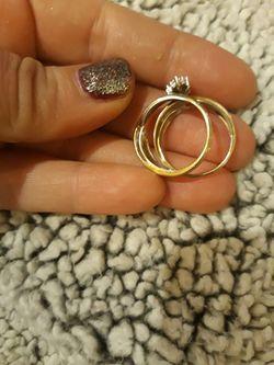 10k Gold Wedding Rings Sz7 Thumbnail