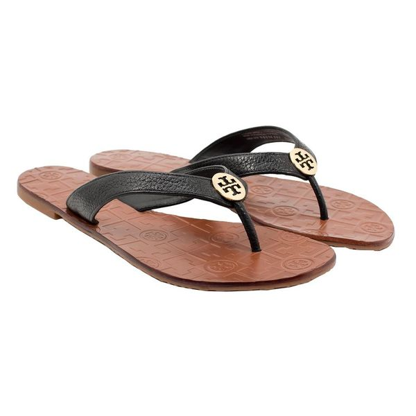 5b38d8342e98 NWB Tory Burch Thora Flip Flop Sandals Size 8 Black Gold for Sale in ...