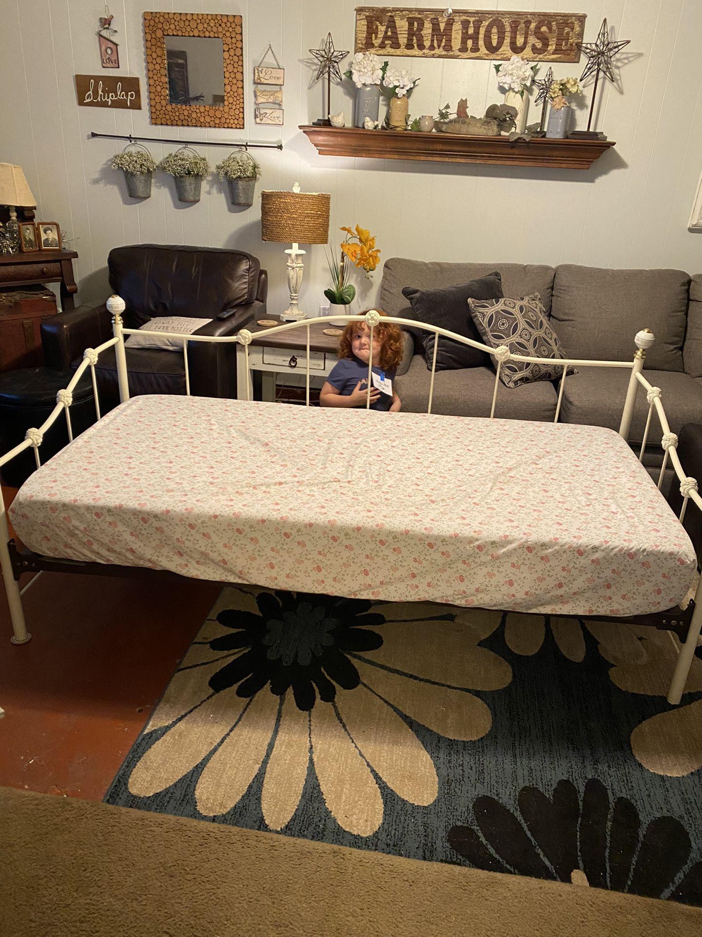 Nice Heavy Iron Bed