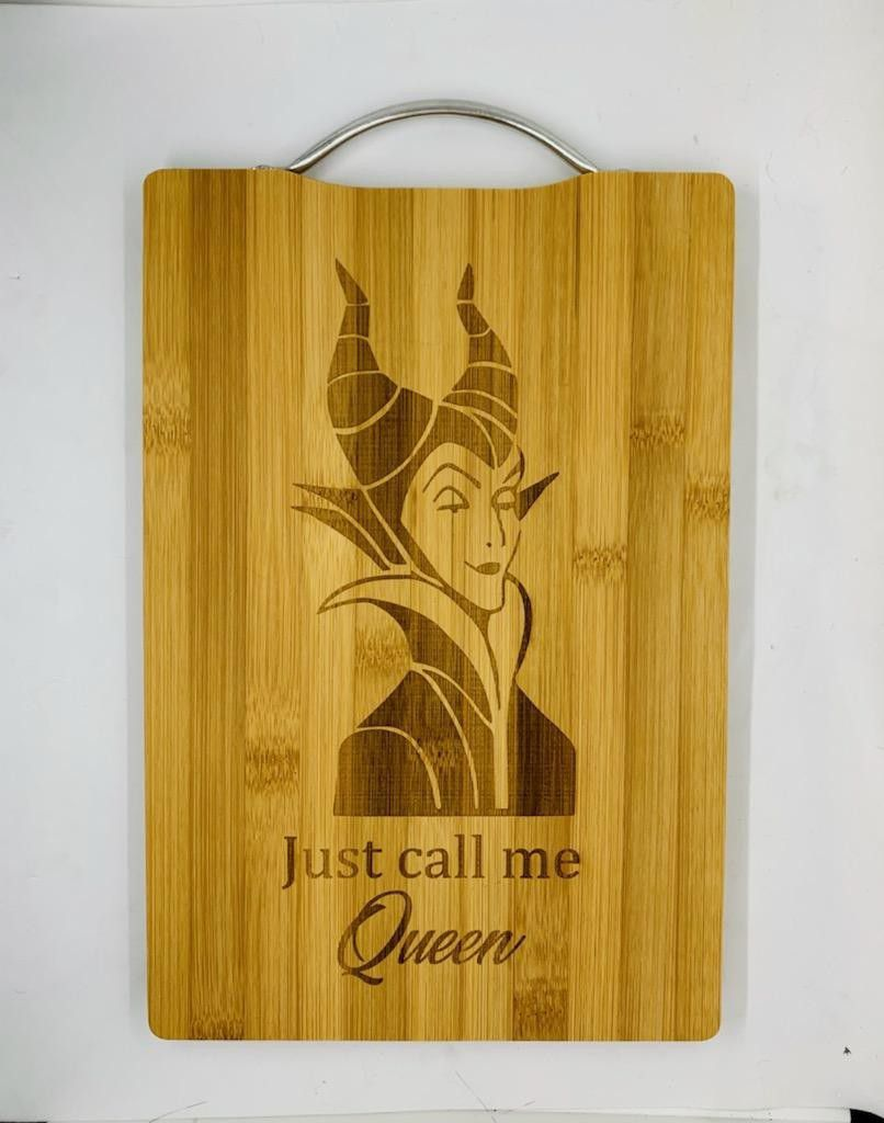 Call Me Queen Laser Engraved Bamboo High Quality Cutting Board