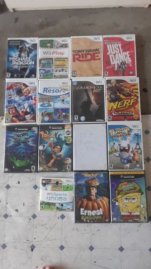 Wii/GameCube games  Wii Sports Resort, Wii Play, Wipe Out