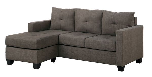 allure bassett asp chaise gray sofa furniture with sectional right couch living room