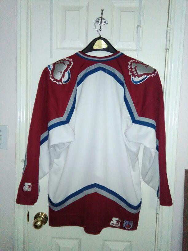 Vintage starter Colorado avalanche Jersey sz large good condition