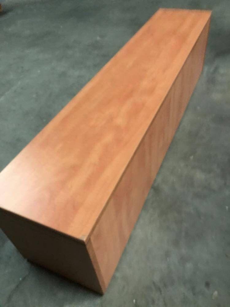Oak finish storage bench