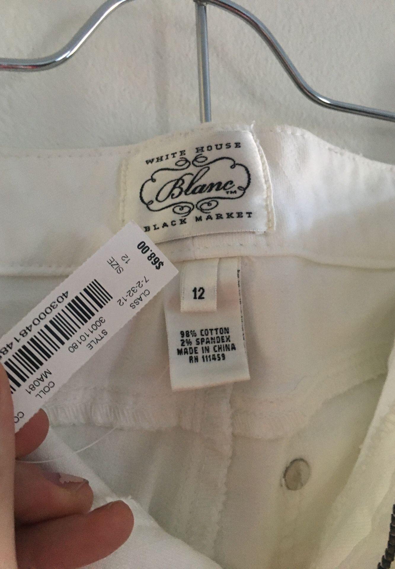 Size 12. White House black market. Blanc fit.