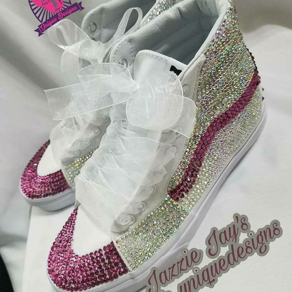 Blinged vans   converse for Sale in Atlanta 1c73a001b