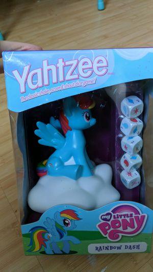 Brand new in box Yahtzee My Little Pony Rainbow Dash edition game for Sale in Oviedo, FL
