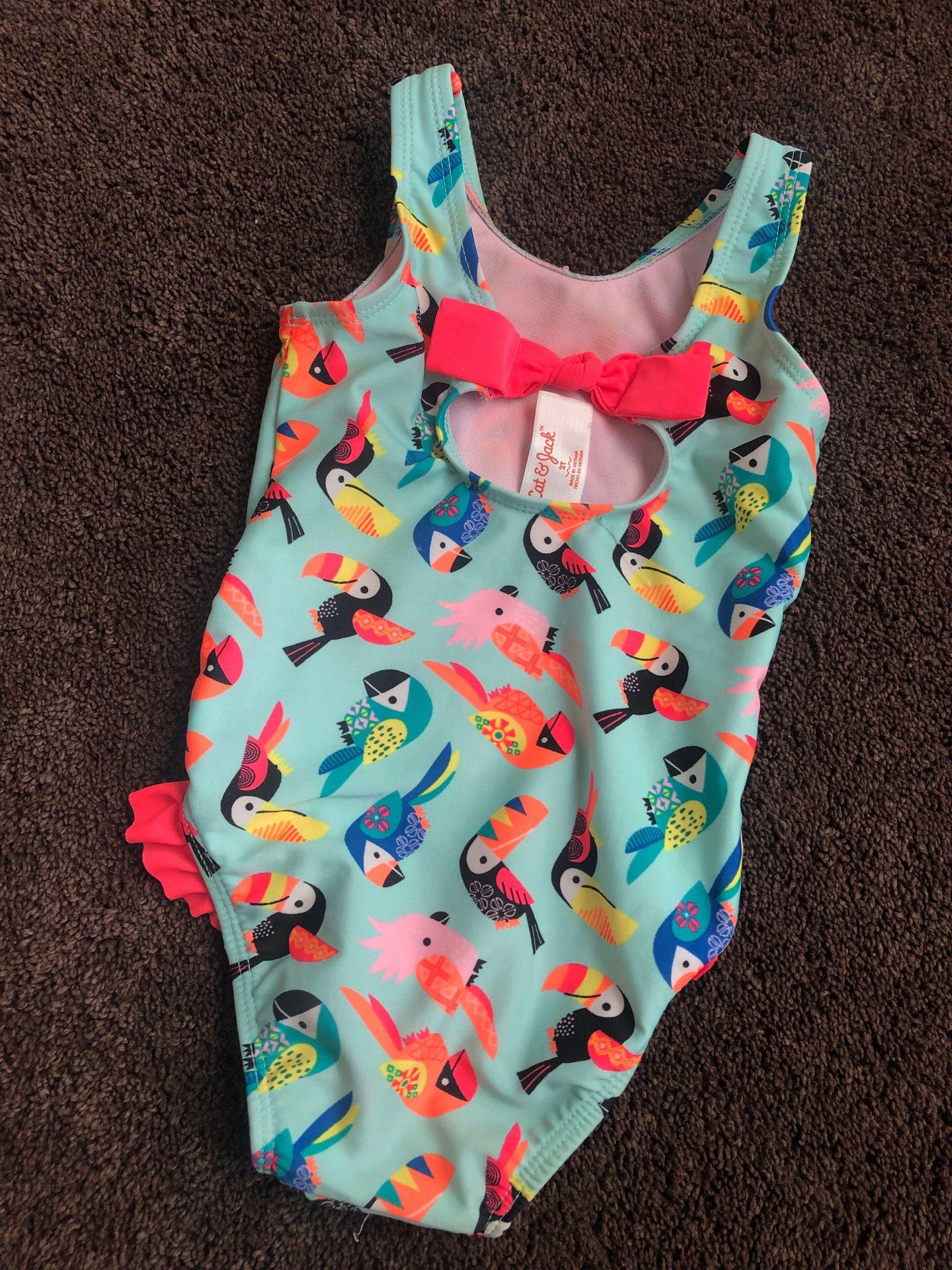 Toddler one piece bikini swimwear