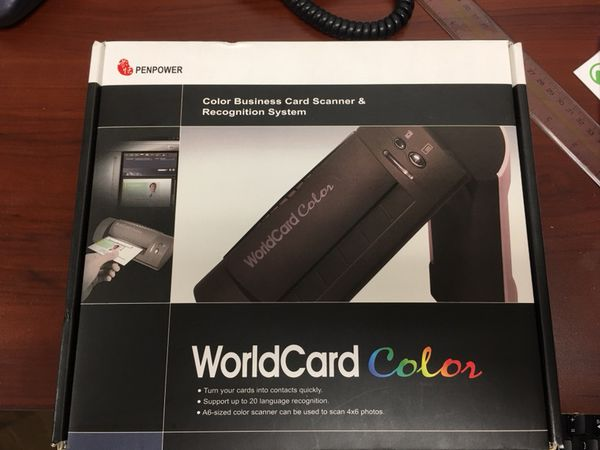 Penpower worldcard color business card scanner with organizing penpower worldcard color business card scanner with organizing software for sale in morgan hill ca offerup reheart Images