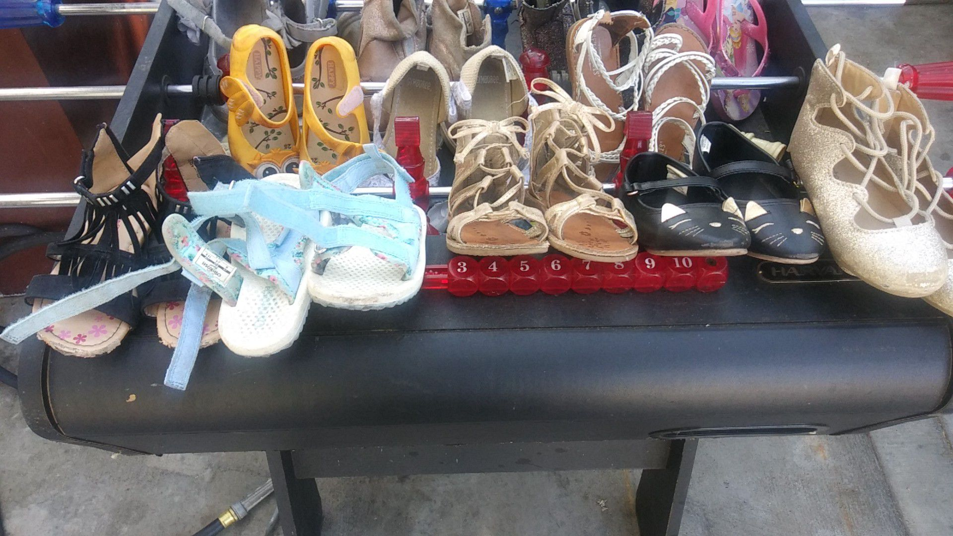 Carter's, Gymboree, OshKosh B'Gosh, happy they are 12 pairs of shoes some shoes are size 8 some shoes are size 9