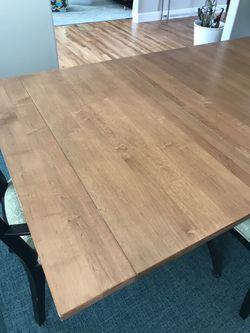 Ethan Allen Counter Height Extension Table, Iron Base Thumbnail