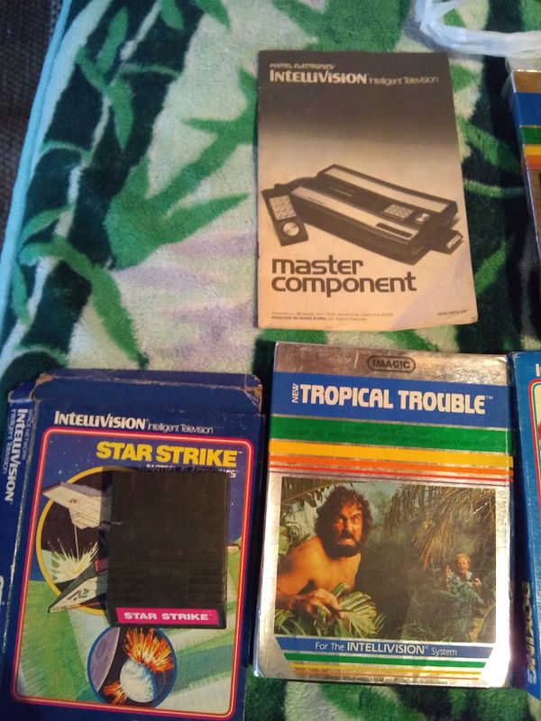 Intellivision Vintage Games Boxes Game Instructions For Sale In